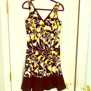 Nine West Floral A line dress